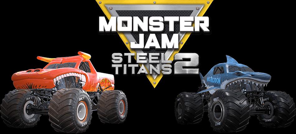 El Toro Loco, Megaladon + Monster Jam Steel Titans Logo